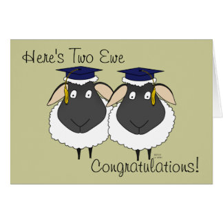 Here's Two Ewe Congratulations! Card