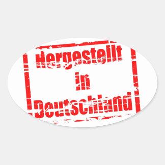Hergestellt in Deutschland - Made in Germany Oval Sticker