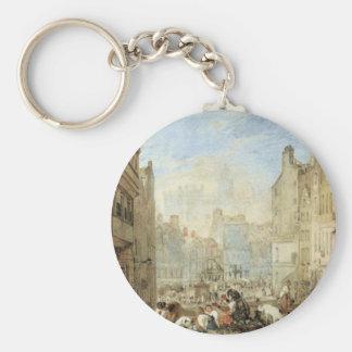 Heriot's Hospital, Edinburgh by William Turner Basic Round Button Key Ring