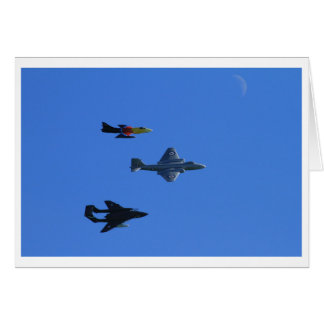 Heritage Fly-past Sea Vixen Canberra Hawker Hunter Greeting Card
