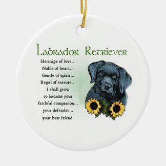 Heritage Labrador Retreiver Puppy Gifts Round Ceramic Decoration