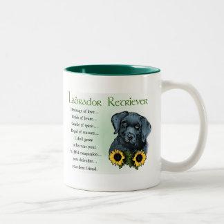 Heritage Labrador Retreiver Puppy Gifts Two-Tone Coffee Mug