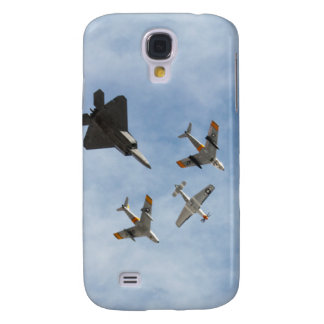 Heritage - P-51 Mustang,F-86-F Saber,F-22A Raptor Galaxy S4 Case