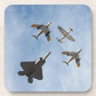 Heritage - P-51 Mustang F-86-F Saber F-22A Raptor Drink Coaster