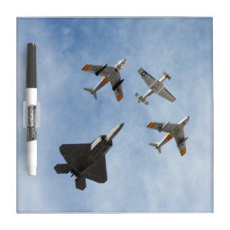 Heritage - P-51 Mustang,F-86-F Saber,F-22A Raptor Dry-Erase Whiteboard