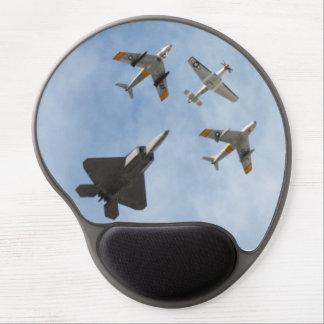 Heritage - P-51 Mustang,F-86-F Saber,F-22A Raptor Gel Mouse Pad
