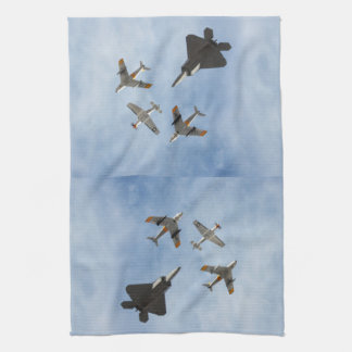 Heritage - P-51 Mustang,F-86-F Saber,F-22A Raptor Hand Towels