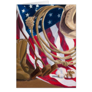 Heritage Western American Notecard by Tiffany Shed
