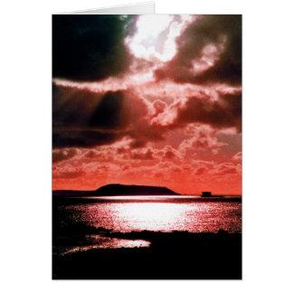 HERM ISLAND AT SUNSET GREETING CARD