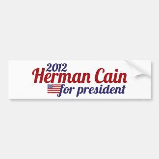 Herman Cain 2012 Bumper Sticker