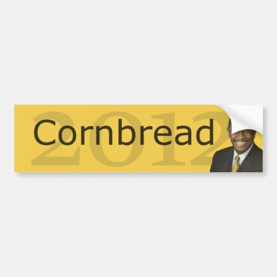Herman Cain 2012 Cornbread Bumper Sticker