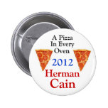 Herman Cain 2012 Pinback Buttons