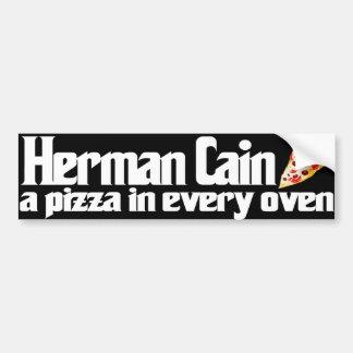 Herman Cain 2012 pizza bumper sticker Car Bumper Sticker