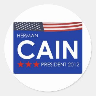 Herman Cain 2012 Round Stickers