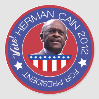 Herman Cain 2012 - US Presidentiables Stickers