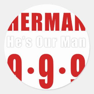 Herman Cain 999 Plan Round Sticker