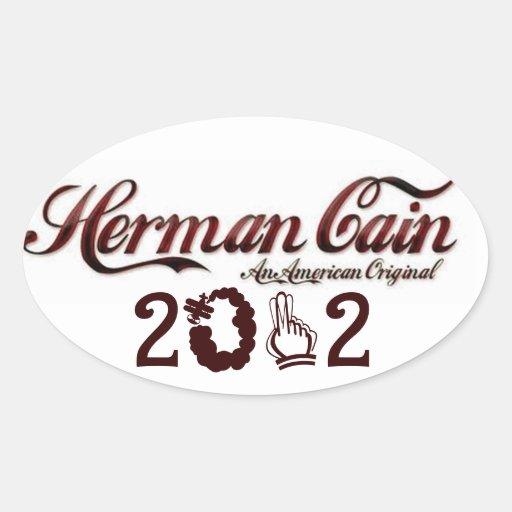 Herman Cain American Original Oval Sticker