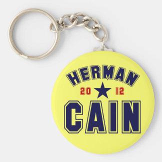 Herman Cain for President 2012 Basic Round Button Key Ring