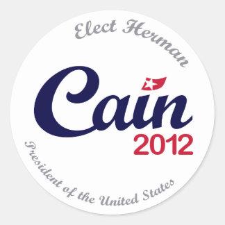 """Herman Cain for President 2012 """"Spirit"""" Stickers"""