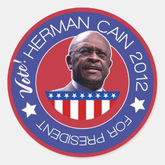 Herman Cain for US President 2012 Sticker