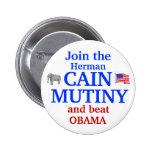 Herman Cain Mutiny 2012 6 Cm Round Badge