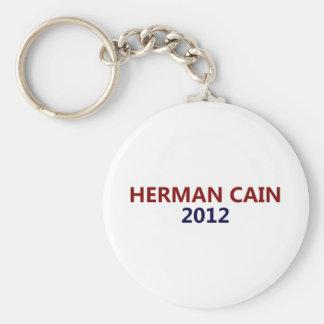 Herman Cain President 2012 Basic Round Button Key Ring
