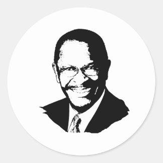 Herman Cain Round Stickers