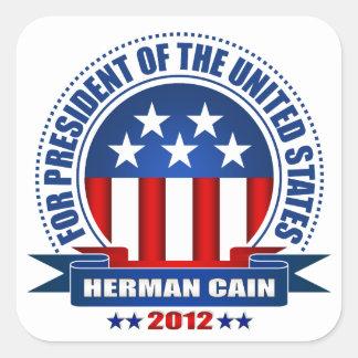 Herman Cain Square Sticker