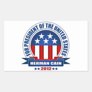 Herman Cain Rectangular Stickers