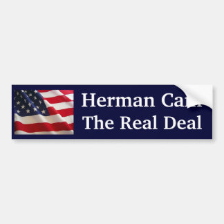 Herman Cain The Real Deal Car Bumper Sticker