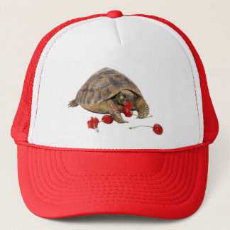 Hermann Tortoise and Strawberries Trucker Hat