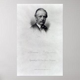 Hermann von Helmholtz, engraved by C.H Jeens Poster