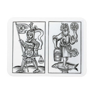 Hermensul or Irmensul (left) and Crodon (right) id Magnet