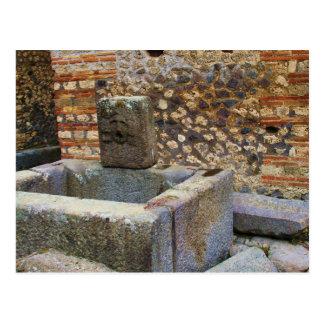 Hermes Fountain, Pompeii Postcard