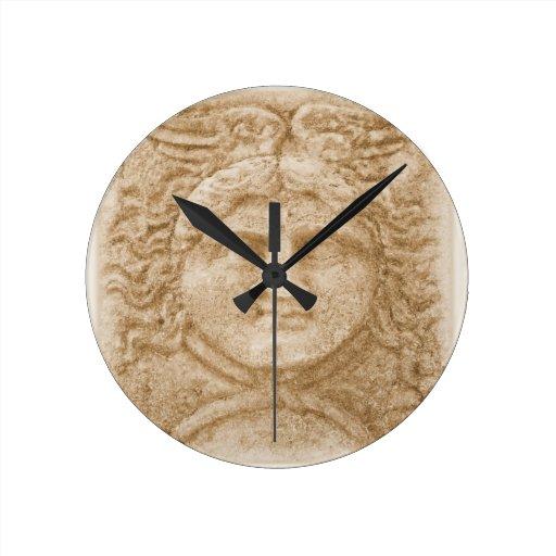 Hermes Greek God Round Clocks Zazzle