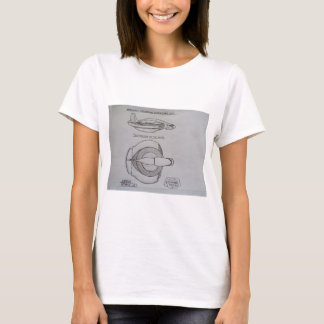 Hermes / Mercurys Atlantis ultrasonic jet. T-Shirt