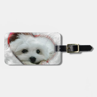 Hermes the Maltese Luggage Tag