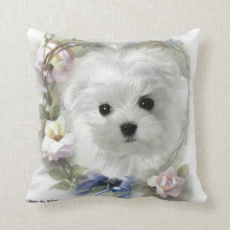 Hermes the Maltese Pillow/Cushion Cushion