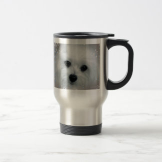 Hermes the Maltese Travel Mug