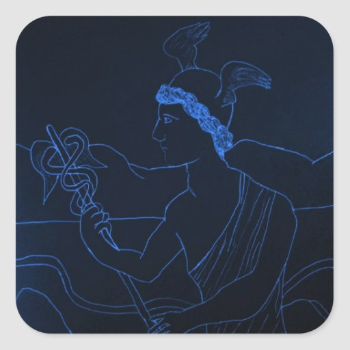 Hermes - The Messenger God Square Sticker