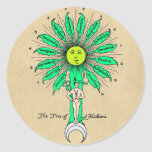 Hermes Tree of Alchemy Round Sticker