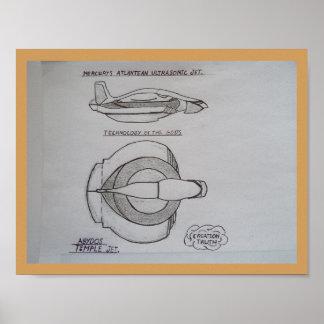 Hermes Ultrasonic jet Poster