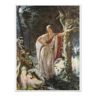 Hermia and the Fairies, 1861 Poster