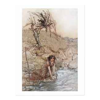 Hermia by Stream Postcard