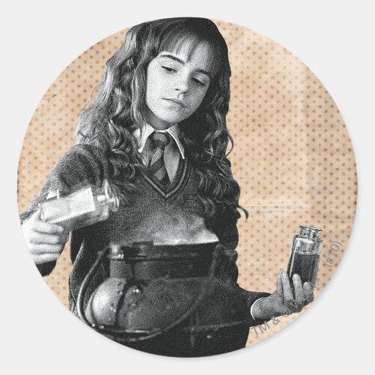 Hermione 7 classic round sticker