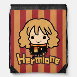 Hermione Granger Cartoon Character Art Drawstring Bag