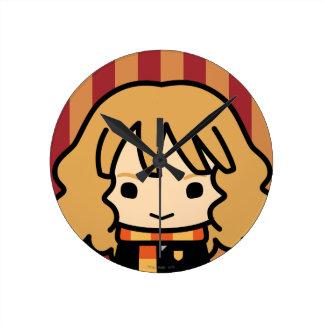 Hermione Granger Cartoon Character Art Round Clock