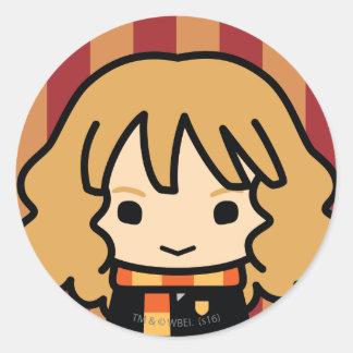 Hermione Granger Cartoon Character Art Round Sticker