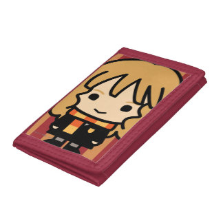Hermione Granger Cartoon Character Art Trifold Wallets