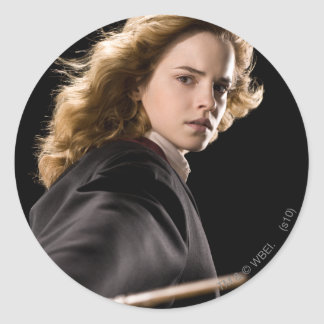 Hermione Granger Ready For Action Classic Round Sticker